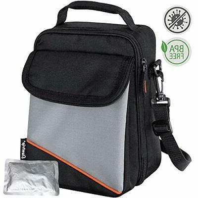 Expandable Lunch Box with Ice Pack Dual Compartment Insulate