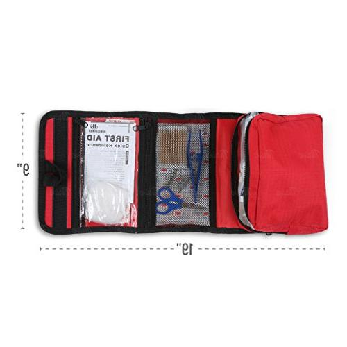 First Aid Pieces with supplies emergency and survival situations. the Car, Hiking, Travel, Office, Pets, Hunting, Home