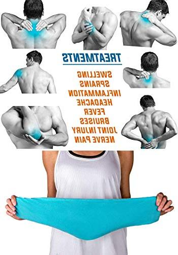 "IceWraps Gel Pack for Therapy 6""x23"" and Shoulder Gel Ice Pack Includes Bonus Cover"