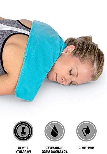 "IceWraps Flexible Cold 6""x23"" Neck and Gel Ice Includes Free Bonus"