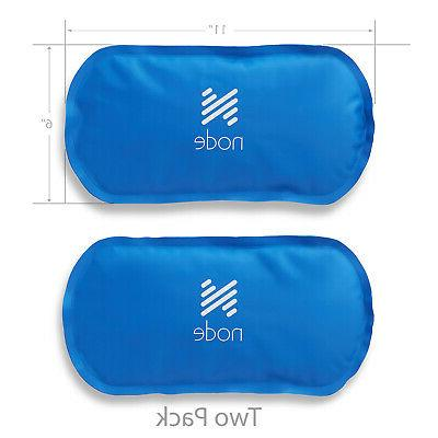 "Hot and Cold Reusable Gel Ice Pack 6"" x 11"" Pack with Wrap Strap"