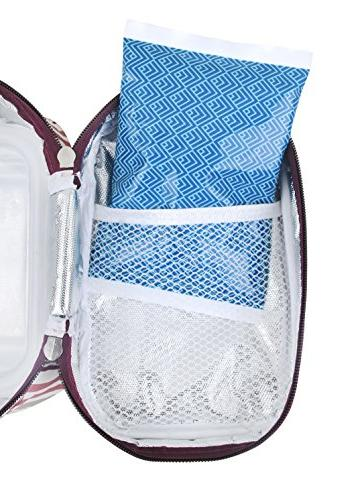 Ice Lunch Boxes 4 Reusable Packs Cold Bag - for Kids Adults Lunchbox and