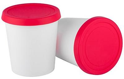 ice cream freezer storage containers set of