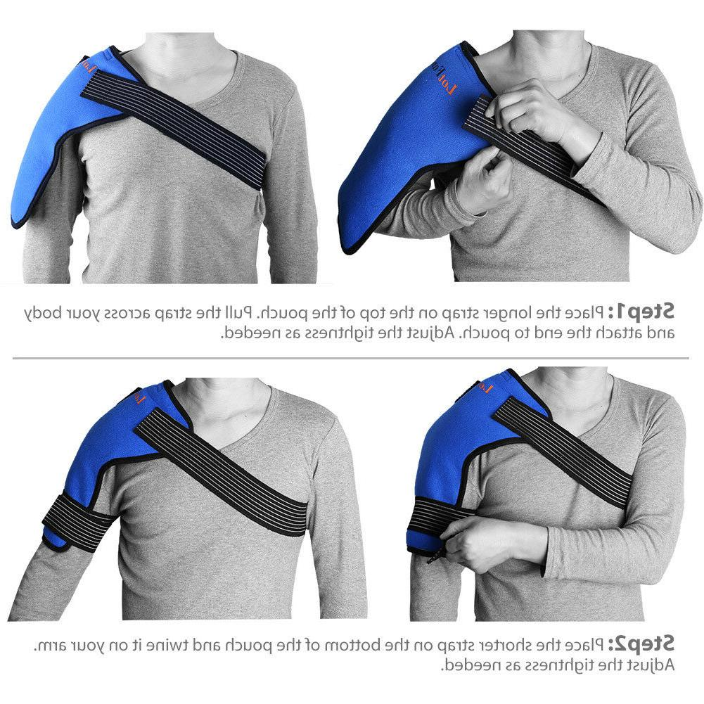 Ice Gel Pack Wrap Hot Cold Therapy Shoulder RelieIf Injuries