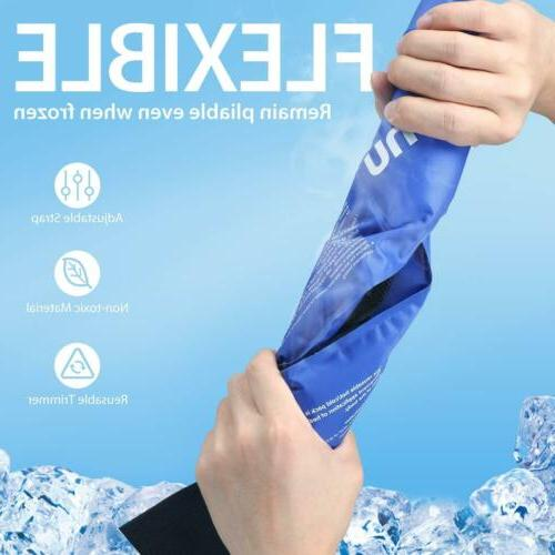 2 New Ice Pack Reusable Gel Cold & Hot