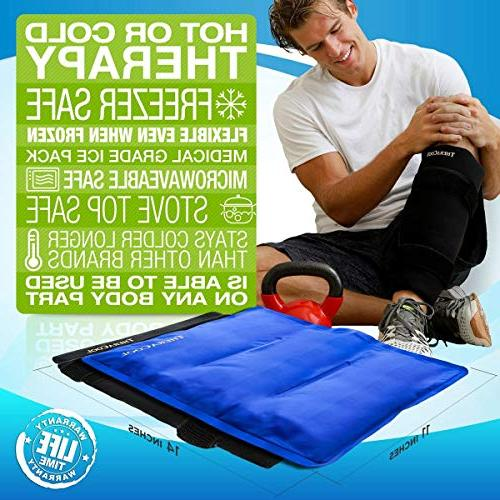 Ice Packs for Reusable Gel Wrap for Rotator Cuff Hip Replacement Elbow Arthritis 14 11 TheraCool