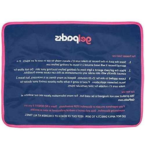Extra Ice Pack for Relief - Very Flexible Freezing Cold Back, Spine, by Gel