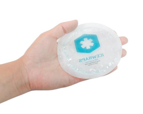 IceWraps Round Reusable Ice Packs With Cloth Backing 5 - Great for Kids