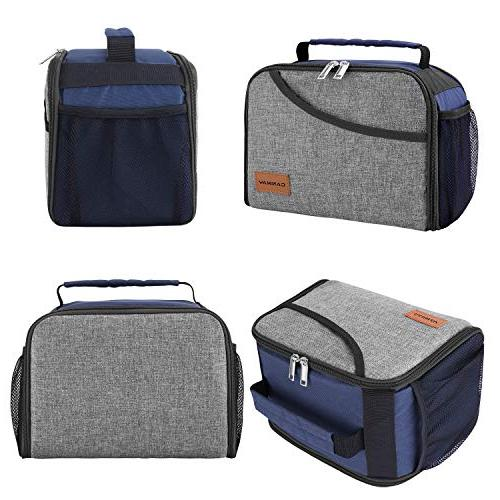 Insulated Bag, Expandable School Box Tote Bento for Men, Women, Kids, Boys and Girls, Office/School/Picnic/Camping, & Cold