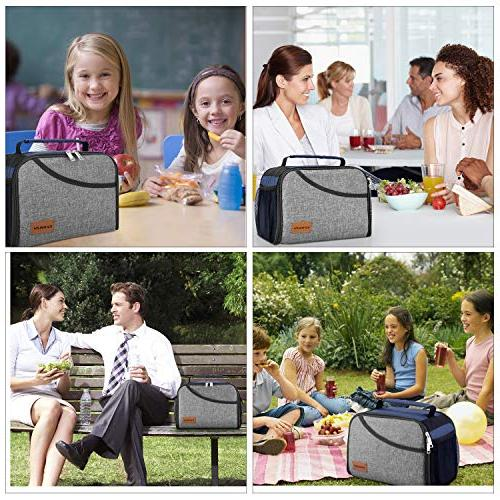 Insulated Bag, Canway Tote Bag for Men, Women, Office/School/Picnic/Camping, & Cold