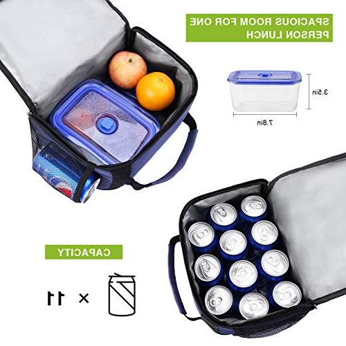 Insulated Lunch Canway Expandable Box Tote Bag for Boys Office/School/Picnic/Camping,