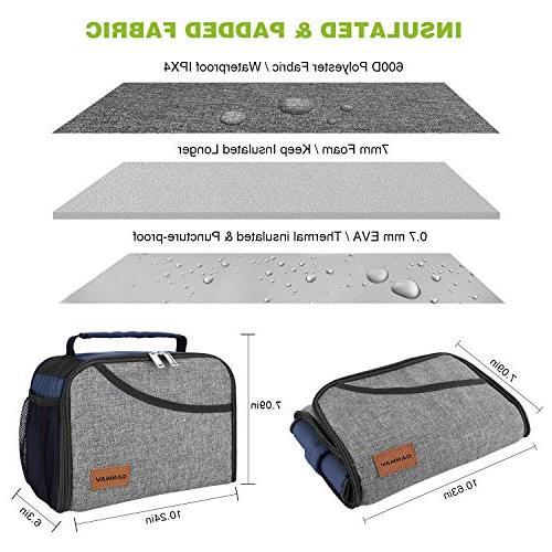 Insulated Expandable School Tote for Men, Kids, Boys and Office/School/Picnic/Camping, Hot &