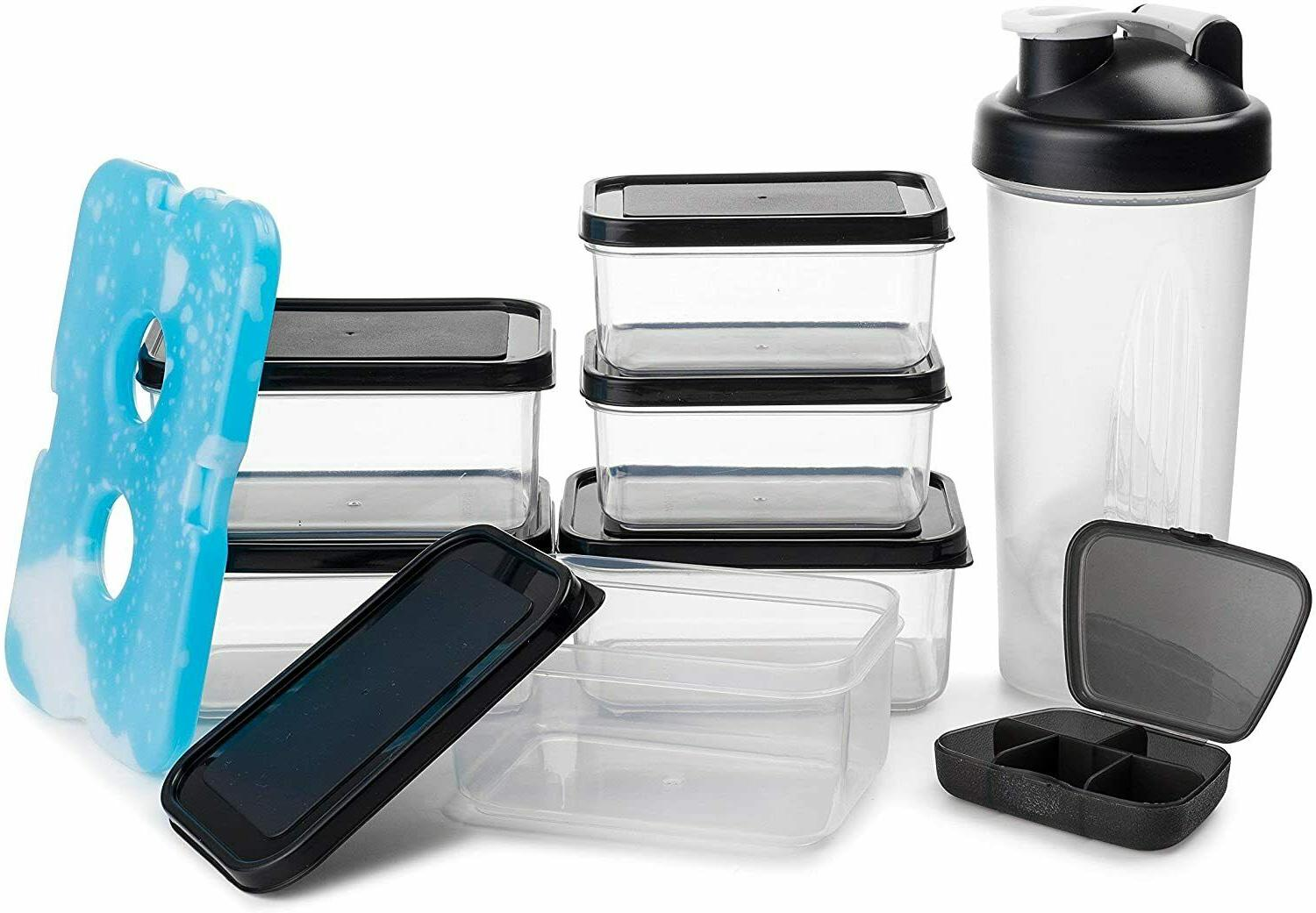 Insulated Prep Lunch Bag + Control Containers +
