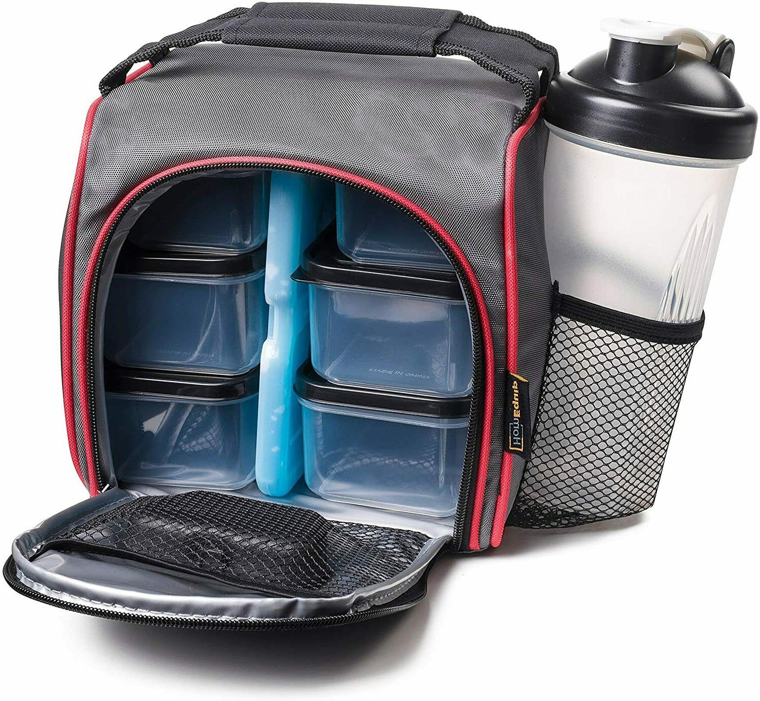 insulated meal prep lunch bag food portion