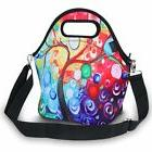 ICOLOR Insulated Neoprene Lunch Bag - Removable Shoulder Str