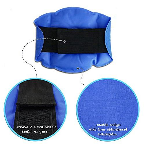 WORLD-BIO Knee Pack Relief Cold Knee for Swelling, Heat Alleviating Pain, Blue