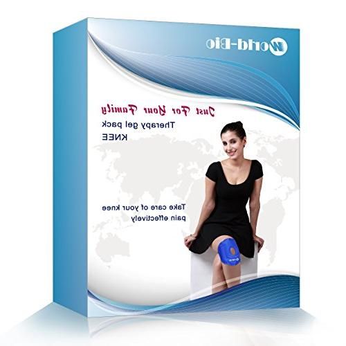 WORLD-BIO Ice Wrap for Relief Reusable Knee for Swelling, Heat or Ice Alleviating Joint and Muscle Pain, Light