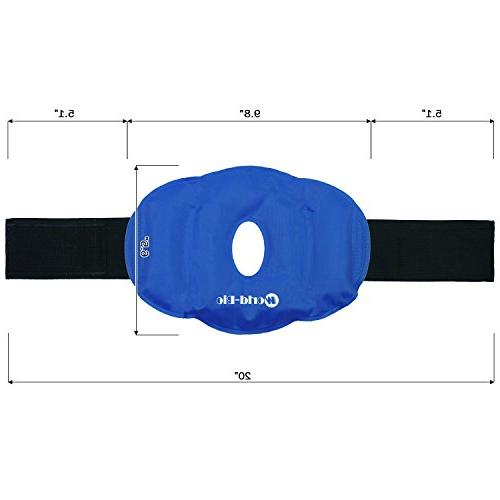WORLD-BIO Knee Wrap for Injuries, Pain Relief Reusable Knee Brace for Heat Alleviating and Pain,