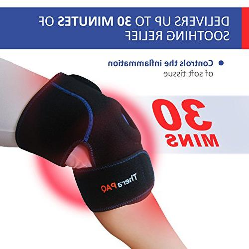 Knee Ice Wrap by TheraPAQ: Hot Cold Therapy Knee Support Brace - Reusable Sleeve Pain Relief, Meniscus Arthritis, Injury & Swelling
