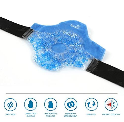 Knee Beads Hot & Therapy Compress Pack Fabric Cover - gel beads both ice relief and rehab Great arthritis pain