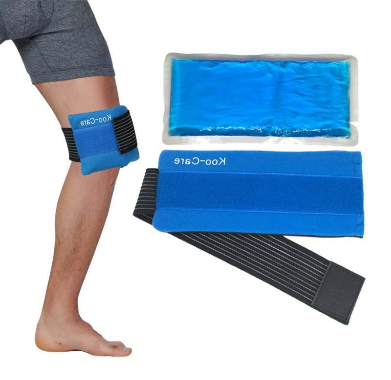 Gel Ice Pack & Wrap with Elastic Strap for Migraine Relief H