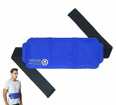 Hot & Cold Therapy Back Gel Ice Pack Wrap for Pain Lumbar Sh