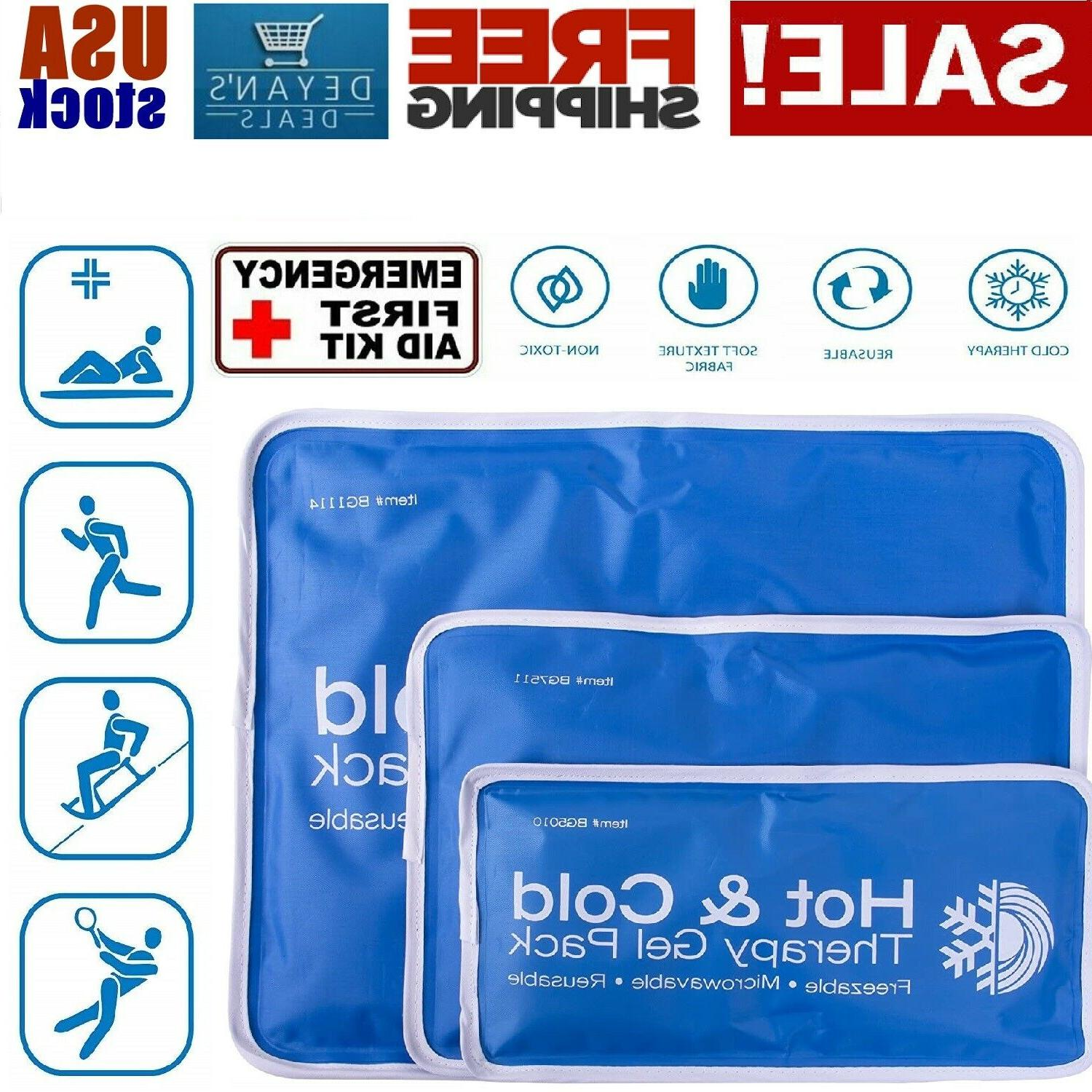 Large Cold Therapy Pad Reusable Gel Ice Pack Pain Relief Spo