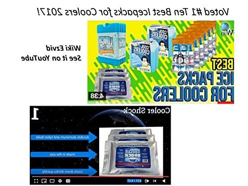 """Cooler Shock 3X Zero°F Freeze Packs 10""""x14"""" - Ice Fill You Water Save! 12lbs"""