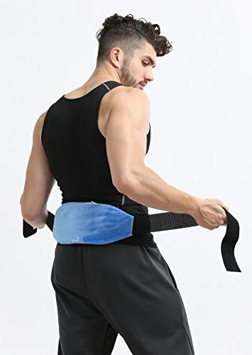 Lower Gel Beads Hot Cold Wrap Pack + Fabric gel beads provides ice/heat pain rehab sports +