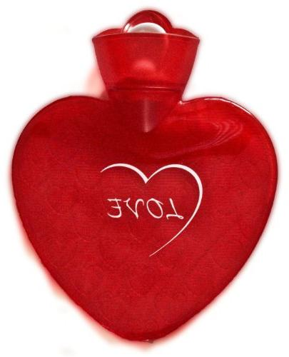 red transparent love heart water
