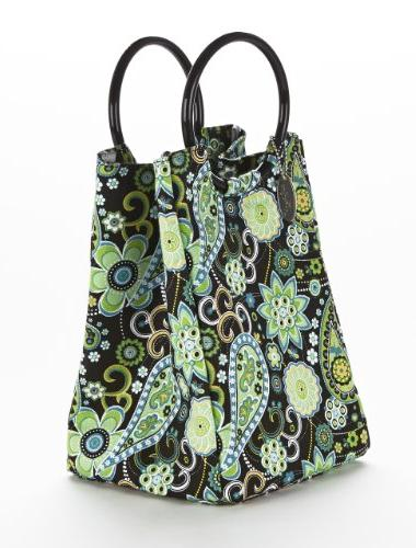 Fit & Retro Insulated Bag, Green Paisley, ea