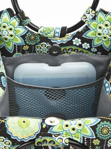 Fit Fresh Retro Lunch Green Paisley, 1