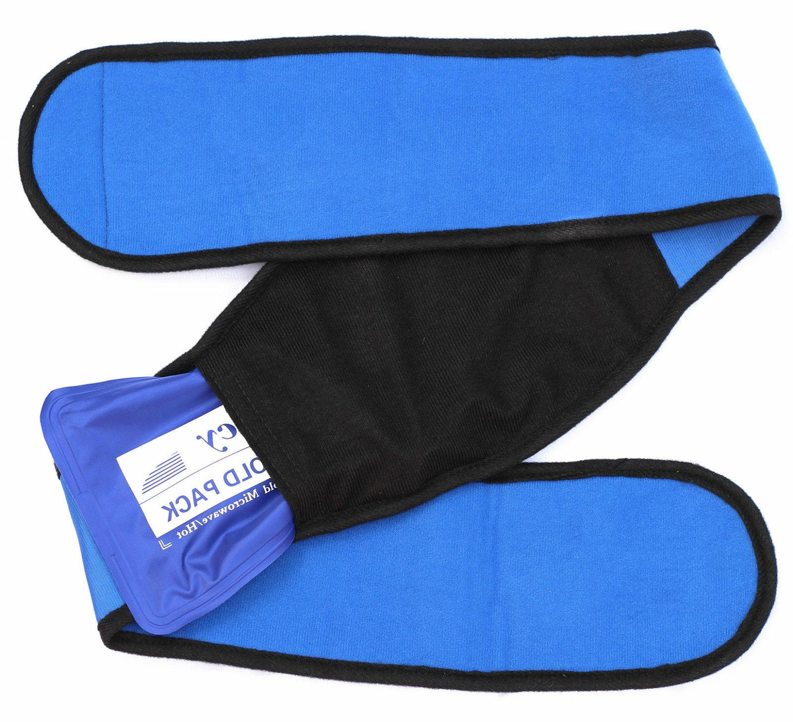 Reusable Gel Ice Pack Hot Cold Heat Therapy Wrap Belly Waist
