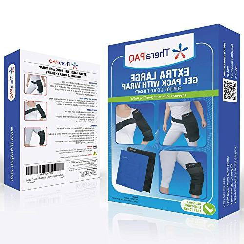 Large Ice Pack with TheraPAQ - Cold for Hip, Shoulder, Back, Knee Pain Relief for Recovery, Swelling, Bruises & Sprains
