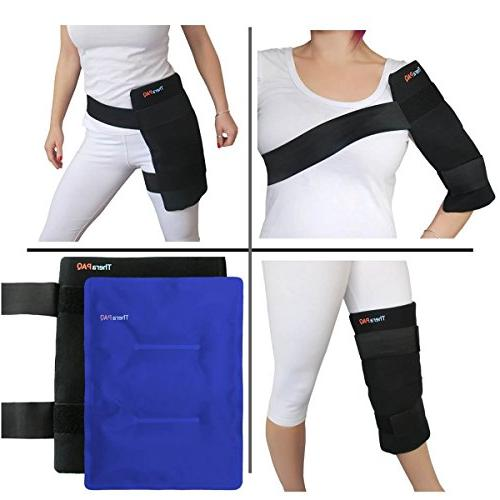 Large Reusable Ice Pack TheraPAQ - Hot & Cold Shoulder, Pain Relief for Injuries, Recovery, &