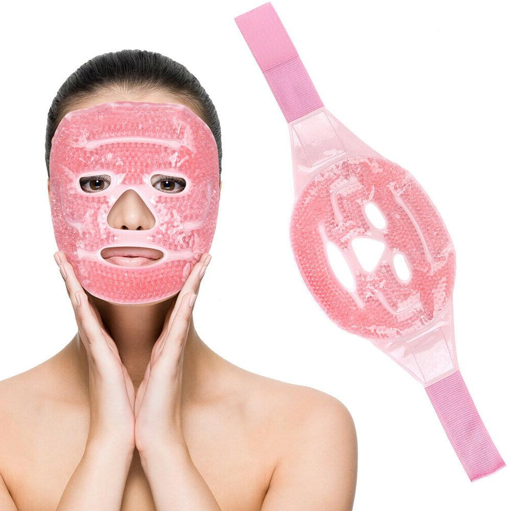 reusable hot cold face mask therapy puffy