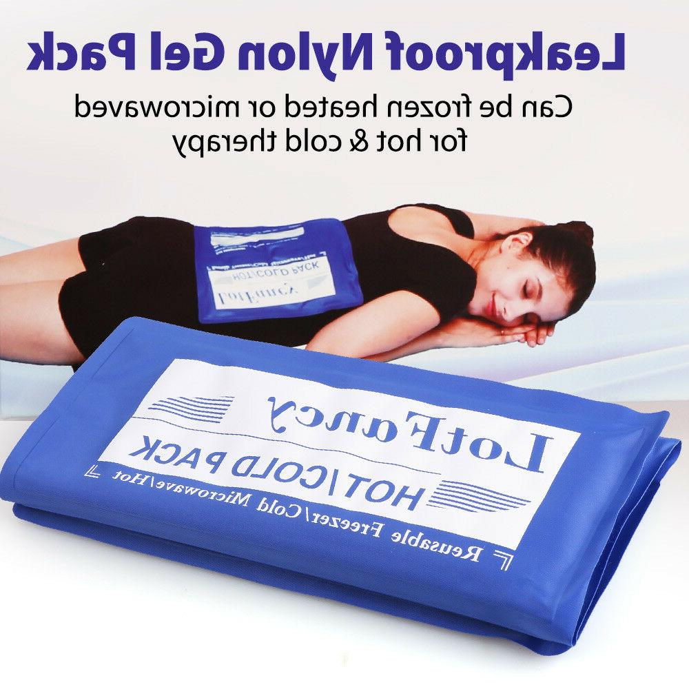 Reusable Hot Cold Gel Ice Pack Heat Therapy First Aid Kit Ba