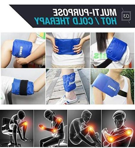 reusable hot cold gel ice pack wraps