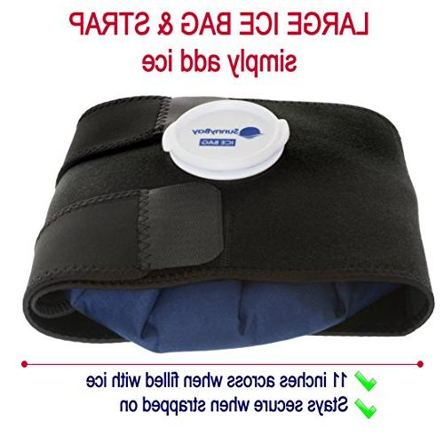Reusable Ice with Strap: Therapy for Injury, Neck - Personal, Non Deep Non Toxic Hot Wrap
