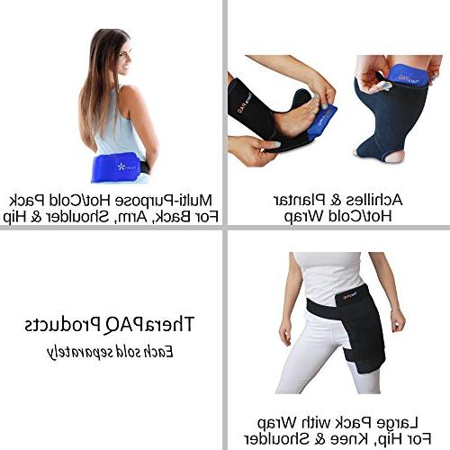 Pain Relief Flexible Pack Injuries TheraPAQ | & Cold Therapy Reusable Gel Pack/Heat Wrap Great for Back, Neck, Ankle, Knee and Hip