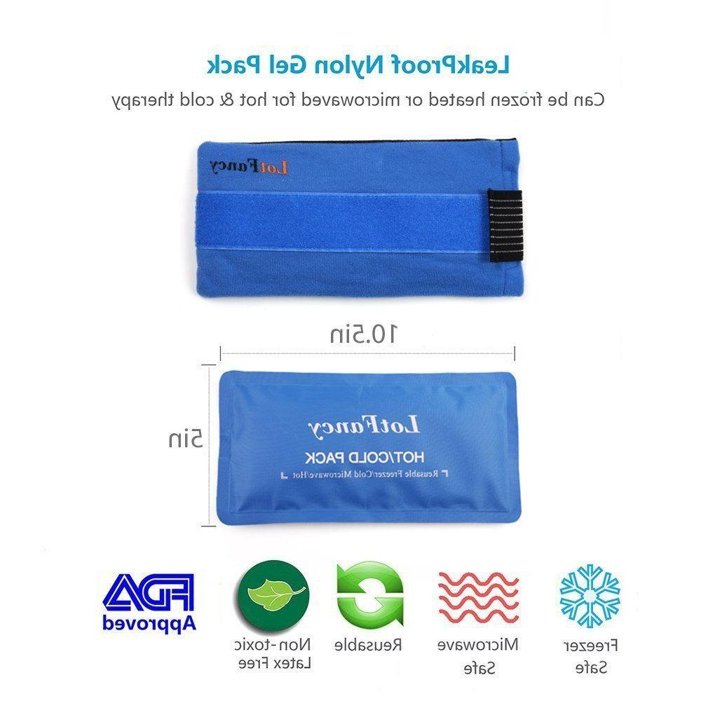 Reusable Ice Pack Gel Wrap Hot Pain Head Ankle