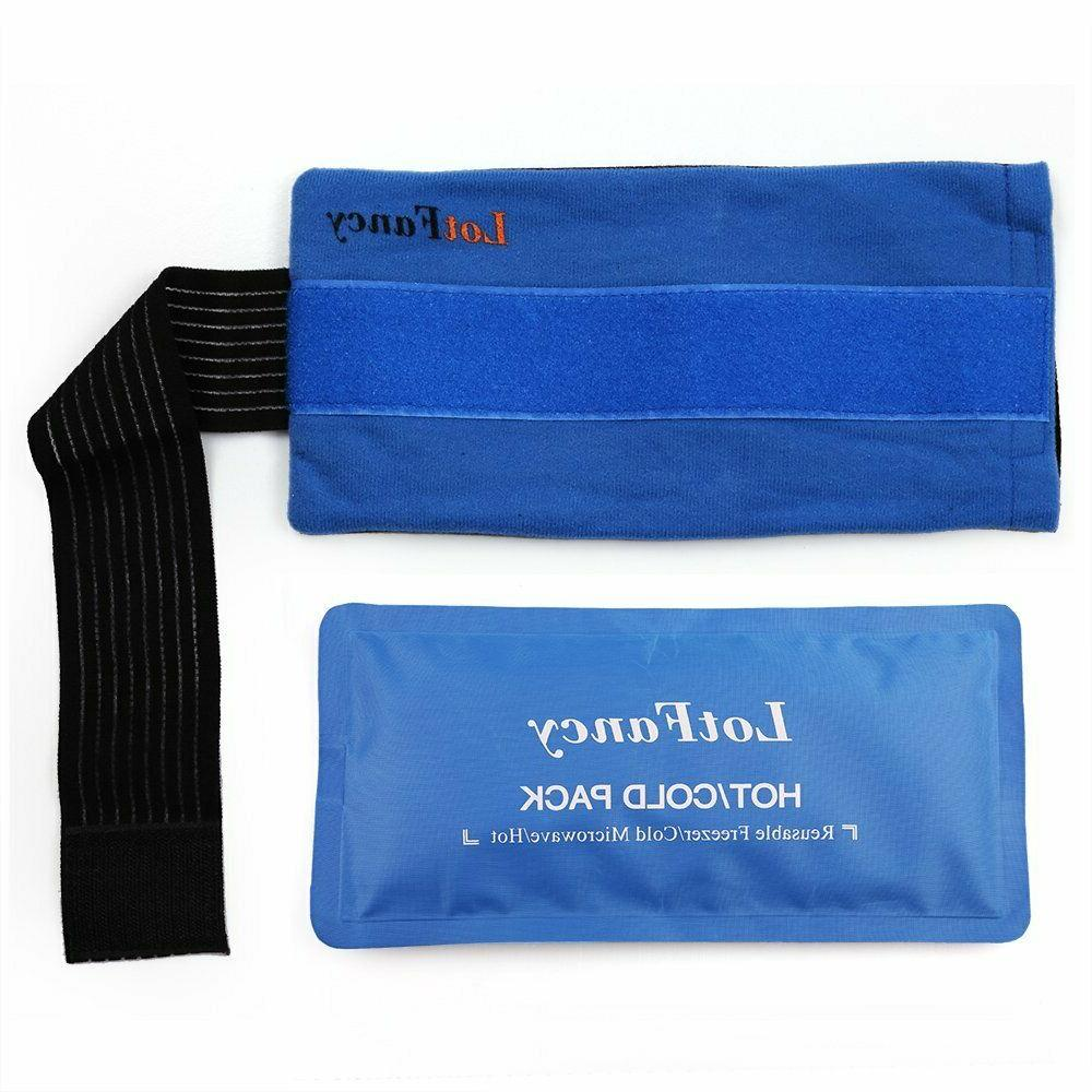 reusable ice pack gel wrap hot cold