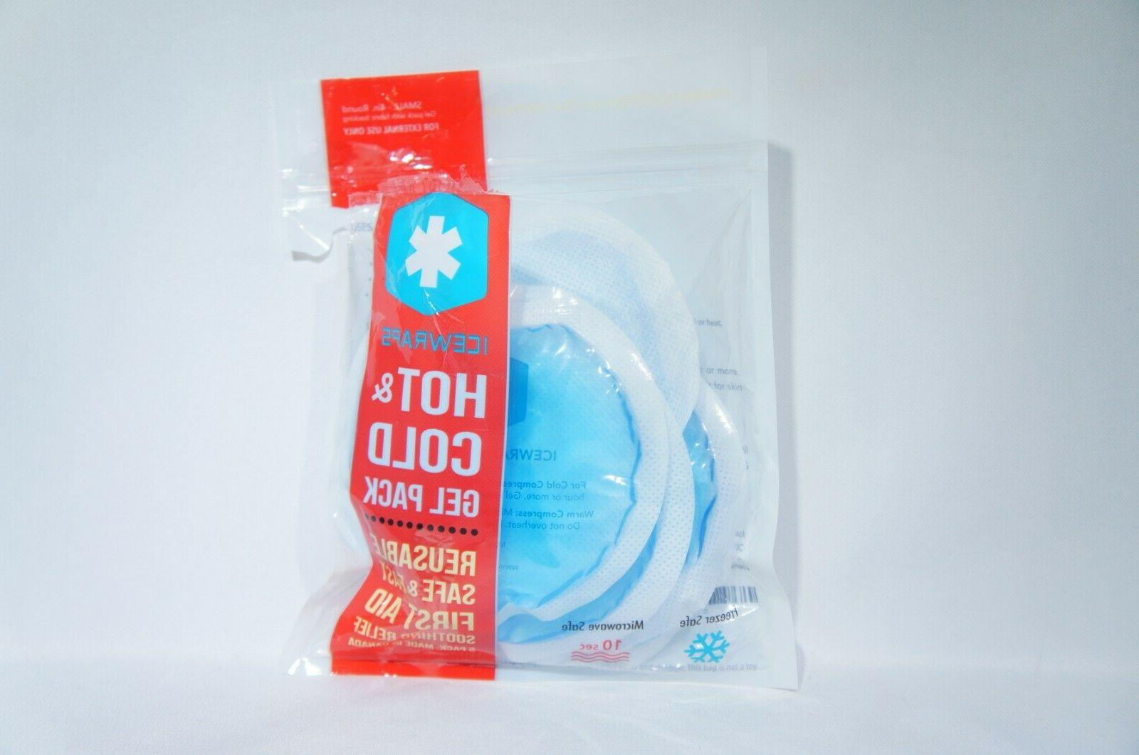 round blue gel ice packs with cloth