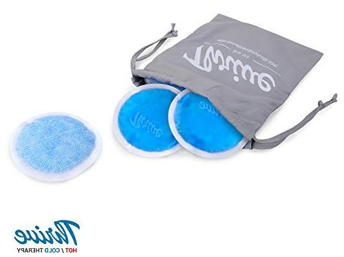 Round Hot Cold Packs Ice - Flexible Gel Beads with Backing Breastfeeding, Headaches, Relief