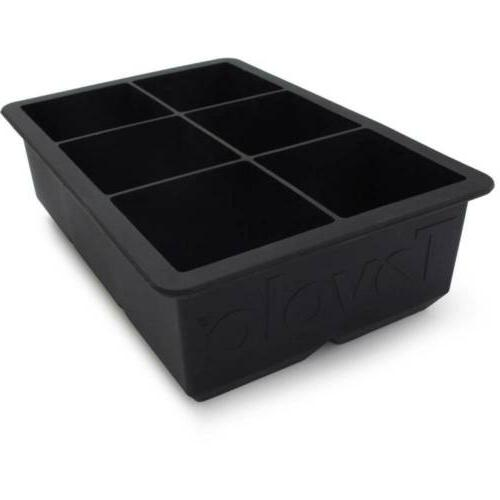 Silicone Ice 6 Jumbo Easy Release Mold Black,2-Pack