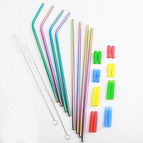 stainless steel straw tumblers reusable