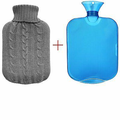 transparent classic rubber hot water bottle