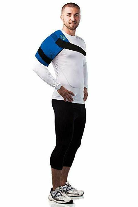 """NatraCure Large Pack Ice Wrap 11"""" x 14"""" Pack with Straps"""