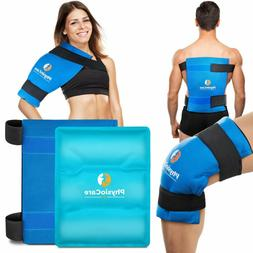 PhysioCare Large Flexible Gel Ice Pack & Wrap - Hot & Cold T