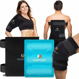 PhysioNatural Large Flexible Gel Ice Pack & Wrap 11x14 inche
